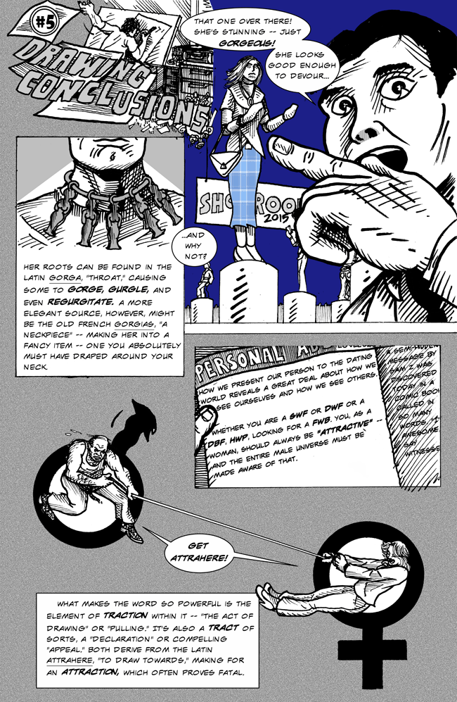 Relationships and Hooking Up comics by Larry Paros. In So Many Words. Book 4. 5a